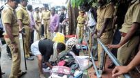 Kerala: Make-shift pandals pulled down