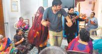 Navratri celebrated with seniors of Amar Seva