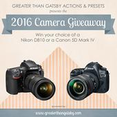Win a Canon 5D Mark IV or Nikon D810 in the Greater Than Gatsby Annual…