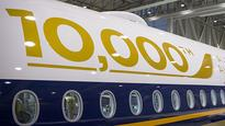 On board Airbus' 10,000th delivery flight