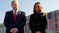 US President Donald Trump observes silence for 9/11 victims