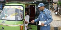 Minister, traffic DIG visit injured warden