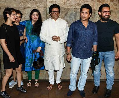 PIX: Sachin, Raj Thackeray watch Dangal with Aamir
