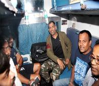 After SRK's Rail Ride, Dhoni Takes Up Travelling In A Train; Fans Storm Ranchi Station To View Their Star