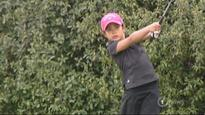 Six-year-old golf prodigy sets sights high after stunning hole-in-one