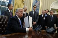 On heels of women's march, Trump bans federal funds for foreign NGOs that back abortions