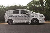 New Mahindra MPV Launch In 2017, Spied Testing