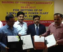 Indian Railways Organization for Alternate Fuel signs Agreement with BHEL for constructing a 2 MW Roof Top Power Plant