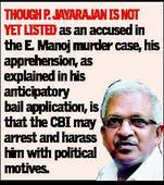 No anticipatory bail, Jayarajan hospitalised