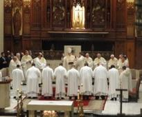 Bishop Richard Lennon ordains eight new deacons on the path to priesthood