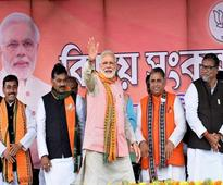 Remove Manik govt, choose 'Hira' for development: Modi to Tripura voters