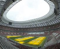 Russia builds inside-out arena for World Cup