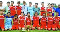 Junior boys Inter district football IEDFA crowned champions