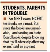Unavailability of NCERT books raises stress bar