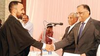 Double delight for Kochi lawyer at the Kerala Bar Council Enrolment event