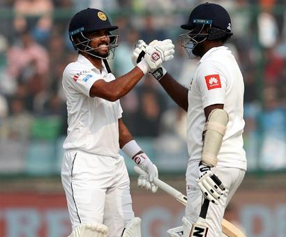 PHOTOS: Chandimal, Mathews tons fuel Sri Lanka fightback