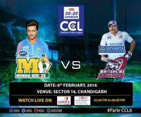 Celebrity Cricket League (CCL 6) live score updates: Mumbai Heroes vs Bhojpuri Dabanggs