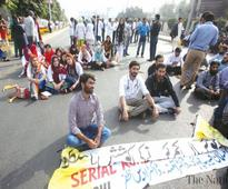 Young doctors take to streets again