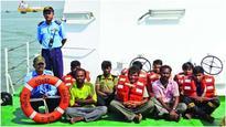 Coast Guard rescues 9 stranded fishermen