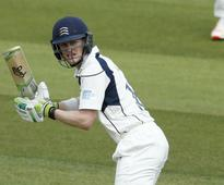 Nick Gubbins thanks Middlesex ally Nick Compton after reaching 120 at Lord's