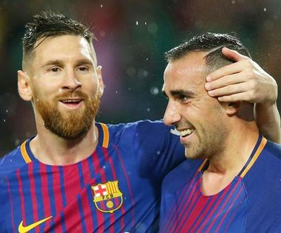 Alcacer steals limelight from Messi as Barca sink Sevilla