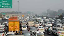Traffic snarls seen in Delhi after road caved in around ITO junction
