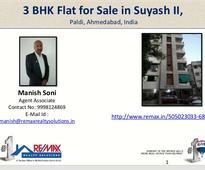 3 BHK Flat for Sale in Suyash II, Paldi, Ahmedabad, India