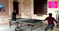 Housefull 3 stars Akshay Kumar and Riteish Deshmukh play a game of virtual table tennis in this FUNNY video!