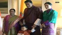 External Affairs Minister Sushma Swaraj meets Bhutanese King