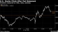 U.S. Stocks Rise as Fed Reassures on Gradual Rate Path, Economy