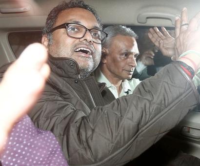 Karti's 1st day in Tihar jail