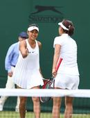 Highlights of women's doubles at Wimbledon Tennis Championship