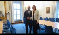 Foreign Minister Mangala Samaraweera meets the Swedish Deputy Premier for talks