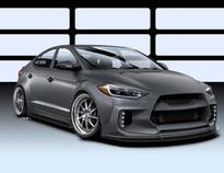 Hyundai And ARK Performance Combine Talents To Develop Road Racer Elantra Concept For 2016 SEMA Show