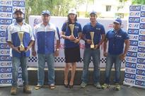 Aishwariya Pissay from CEAT Team wins 1st position in Lady Category at Maruti Suzuki Dakshin Dare Rally 2016