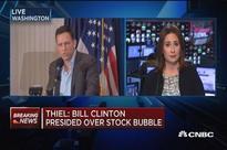 Thiel thinks Hillary Clinton is 'much more dangerous' than Donald Trump