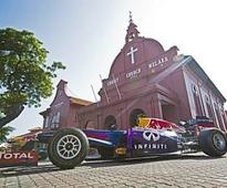 The RB9 car makes pit stop in Malacca and PJ