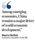 IMF revises up its projection of China's growth
