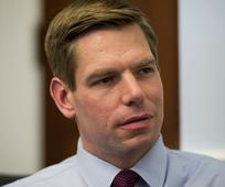 Rep. Eric Swalwell Wants Secret Service to Investigate Trump's Clinton Remark