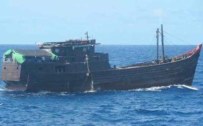 Coast Guard seizes suspected boat from Myanmar