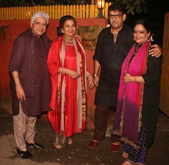 PIX: Shabana Azmi, Javed Akhtar's grand Diwali bash
