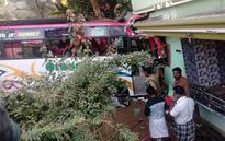 School students injured as bus rams into house in Kozhikode