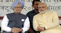 Despite criticism in Rajya Sabha, PM Modi shakes hand with Manmohan Singh during lunch break