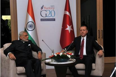 Erdogan arrives in India; to hold talks with Modi tomorrow