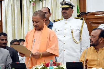 Adityanath, 2 deputy CMs take oath as MLCs