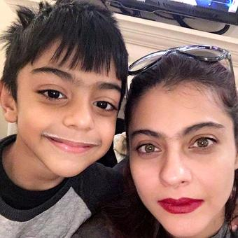 Kajol's adorable picture with son