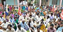 MNREGA workers demand payment of pending wages