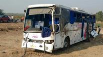 Four killed, 12 hurt as luxury bus overturns on Pune-Solapur Rd