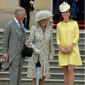 Pregnant Kate Middleton wears sunny yellow dress to Queen's summer garden party