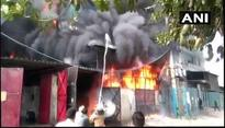 Delhi fire: Massive fire breaks out at footwear factory